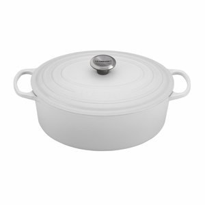 Le Creuset 6 3/4 Qt. Signature Oval French Oven - White - LS2502-3116SS
