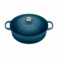 Le Creuset 6 3/4 Qt. Signature Round Wide Oven - Marine - LS2552-306MSS