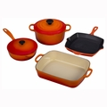 Le Creuset 6 Piece Signature Set - Flame - MS1406-2