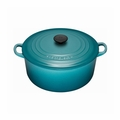 Le Creuset 7 1/4 Qt. Signature Round French Oven - Caribbean - LS2501-2817