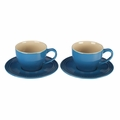 Le Creuset 7 oz. Cappuccino Cups and Saucers - Set of 2 - Marseille - PG8000-0559