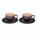 Le Creuset 7 oz. Cappuccino Cups and Saucers - Set of 2 - Oyster - PG8000-057F