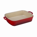 "Le Creuset 7 Qt. (12.8"" x 18.7"") Signature Large Rectangular Roaster - Cherry - LS2011-3767"