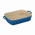 "Le Creuset 7 Qt. (12.8"" x 18.7"") Signature Large Rectangular Roaster - Marseille - LS2011-3759"