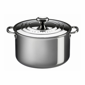 Le Creuset 7 Qt. Stockpot with Lid - Stainless Steel - SSP3100-24