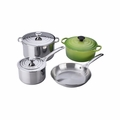 Le Creuset 7PC Stainless Steel & Enameled Cast Iron Cookware Set - Palm  - SS14SS7-4P