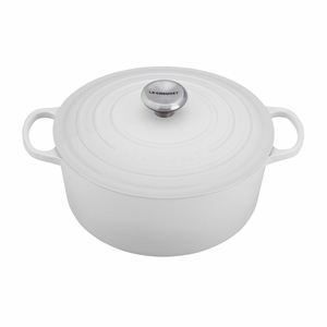 Le Creuset 9 Qt. Signature Round French Oven - White - LS2501-3016SS