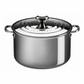 Le Creuset 9 Qt. Stockpot with Lid - Stainless Steel - SSP3100-26