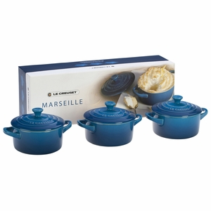 Le Creuset Mini Cocotte Gift Set - Set of 3 Solids (8 oz. each) - Marseille - PG1163-0859