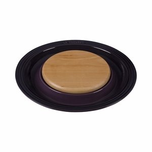 """Le Creuset 15"""" Round Platter w/Cutting Board - Cassis - PG6390CB-3772"""