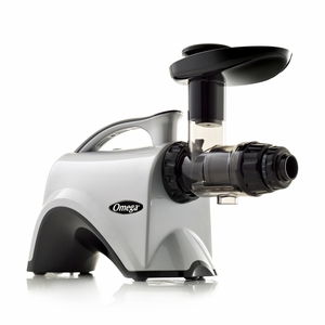 Omega 6th Generation Nutrition Center Masticating Juicer - Silver - NC800HDS