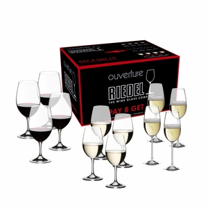 Riedel Ouverture Red/White Magnum and Champagne Pay 8 Get 12 Glasses - Set of 12 - 5408/92
