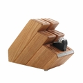 Robert Welch Signature Oak Step Knife Block w/Sharpener - SIGOA2114L