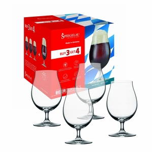 Spiegelau Beer Classics Stemmed Pilsner Glasses Buy 3 Get 4 - Set of 4 - 4991384