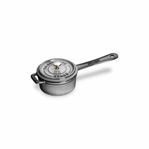 Staub Mini Sauce Pan - 0.25Qt - Graphite Grey - 1241018