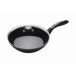 "Swiss Diamond - 10.25"" Induction EDGE Stir Fry Pan w/Lid - 6526ic"