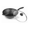 "Swiss Diamond - 11.8"" Induction Wok w/Cover - 61130ic"