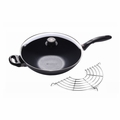 "Swiss Diamond - 12.5"" Induction Wok w/Rack-Cover - 61132ic"