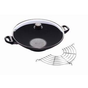 "Swiss Diamond - 14"" Induction Wok w/Rack-Cover - 61136ic"