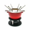 Swissmar Noirmont 10Pc Meat Fondue Set - Red - F66611
