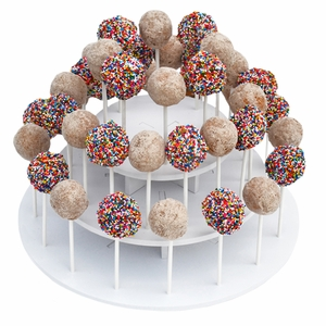 The Smart Baker 3 Tier Round PVC Cake Pop and Lollipop Stand - TSB4102