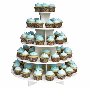 The Smart Baker 5 Tier Round PVC Cupcake Tower Stand - TSB4133