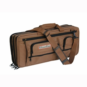 The Ultimate Edge Evolution 18-Piece Deluxe Knife Case w/Accessory Compartment - Chocolate - 2001EDCH
