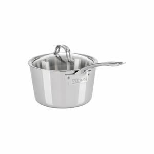 Viking Contemporary 3-Ply - 3.4 Qt. Sauce Pan w/Lid - Mirror Finish - 4013-3003
