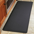 WellnessMats Motif Collection - Bella - Black - 6' x 2' - MB62WMRBLK