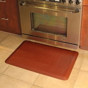 WellnessMats Motif Collection - Bella - Brown - 3' x 2' - MB32WMRBRN
