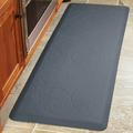 WellnessMats Motif Collection - Bella - Grey - 6' x 2' - MB62WMRGRY