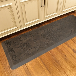 WellnessMats Motif Collection - Entwine - Antique Dark - 6' x 2' - ME62WMRDB