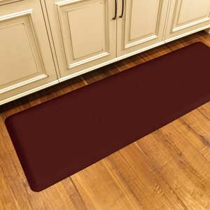 WellnessMats Motif Collection - Entwine - Burgundy - 6' x 2' - ME62WMRBUR