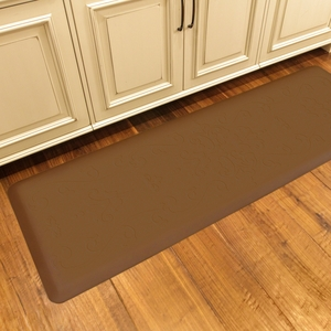 WellnessMats Motif Collection - Entwine - Tan - 6' x 2' - ME62WMRTAN