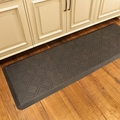 WellnessMats Motif Collection - Moire - Antique Dark - 6' x 2' - MM62WMRDB