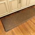 WellnessMats Motif Collection - Moire - Antique Light - 6' x 2' - MM62WMRLT