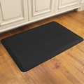WellnessMats Motif Collection - Moire - Black - 3' x 2' - MM32WMRBLK