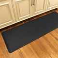 WellnessMats Motif Collection - Moire - Black - 6' x 2' - MM62WMRBLK