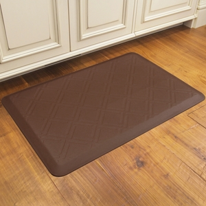 WellnessMats Motif Collection - Moire - Brown - 3' x 2' - MM32WMRBRN