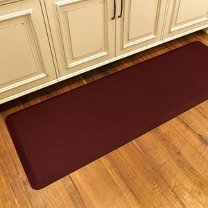 WellnessMats Motif Collection - Moire - Burgundy - 6' x 2' - MM62WMRBUR