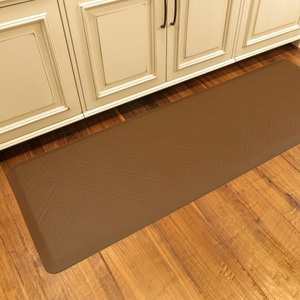 WellnessMats Motif Collection - Moire - Tan - 6' x 2' - MM62WMRTAN