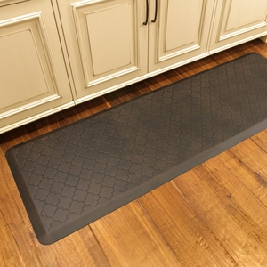 WellnessMats Motif Collection - Trellis - Antique Dark - 6' x 2' - MT62WMRDB
