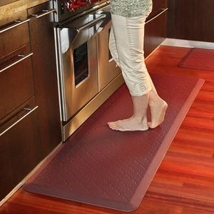 WellnessMats Motif Collection - Trellis - Burgundy - 6' x 2' - PMT62WMRBUR