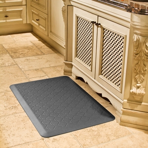 WellnessMats Motif Collection - Trellis - Grey - 3' x 2' - MT32WMRGRY