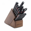 Wusthof Gourmet - 18 Pc. Promo Block Set - Walnut - 9718-3