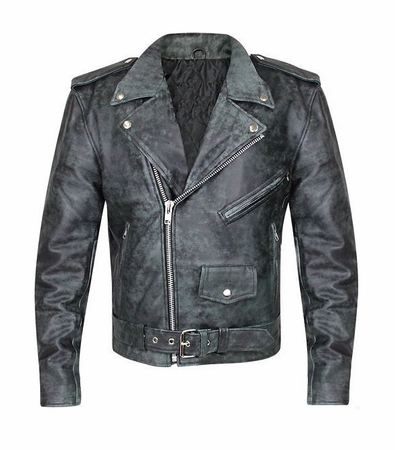 BulletBlocker NIJ IIIA Bulletproof Distressed Leather Jacket
