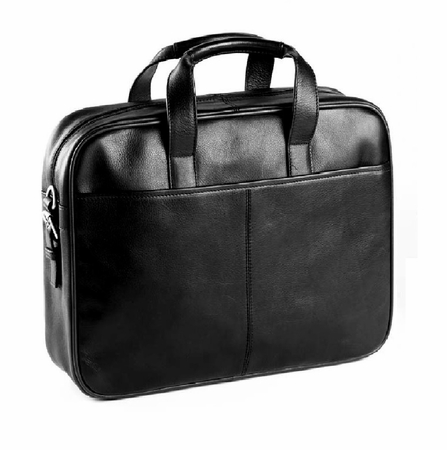 BulletBlocker NIJ IIIA Bulletproof Leather 2-Handle Briefcase