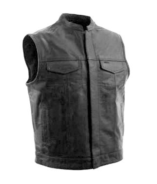 BulletBlocker NIJ IIIA Bulletproof Leather Biker Vest
