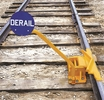 Aldon 4014-03-6D 2-Way Hinged Railroad Derail For Freight Cars With Manual Sign Holder, Size 6