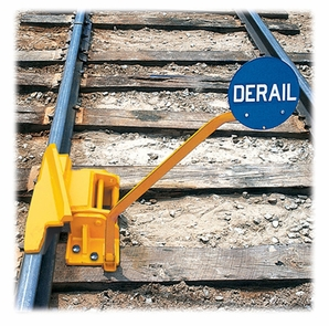 Aldon 4014-10-5L 1-Way (Left) Hinged Railroad Derail With Pop-Up Sign Holder,